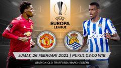 Indosport - Link Live Streaming Liga Europa: Manchester United vs Real Sociedad.