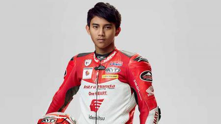 Pembalap Astra Honda Racing Team, Mario Suryo Aji. - INDOSPORT