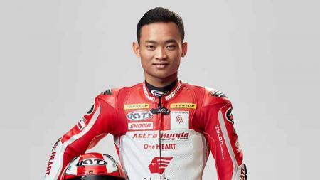 Pembalap Astra Honda Racing Team, Rheza Danica. - INDOSPORT