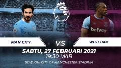 Indosport - Manchester city vs west ham.