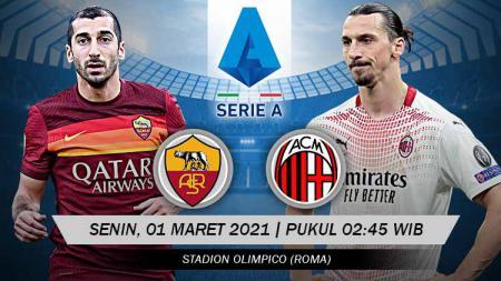 Berikut link live streaming pertandingan Serie A Liga Italia antara AS Roma vs AC Milan. - INDOSPORT