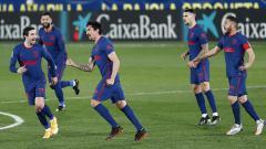 Indosport - Pemandangan pertandingan LaLiga Spanyol antara Villarreal vs Atletico Madrid, Minggu (28/2/21).