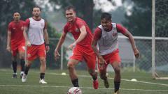 Indosport - Suasana latihab Persija Jakarta.