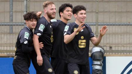 Kelana Mahessa berhasil membantu timnya, Bonner SC mencuri poin di kandang Fortuna Dusseldorf II pada lanjutan Liga Jerman Regional West, Sabtu (13/3/21). - INDOSPORT