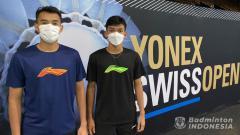 Indosport - Bagas Maulana/Muhammad Shohibul Fikri memanfaatkan latihan perdana jelang Swiss Open.