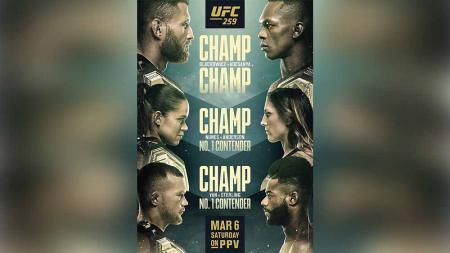 Tiga perebutan juara dunia di UFC 259. - INDOSPORT