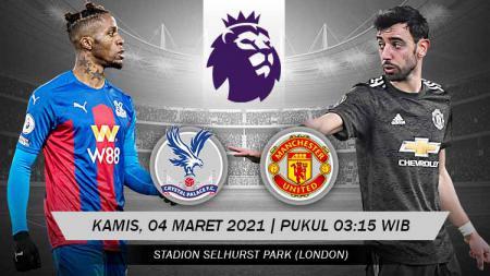 Prediksi pertandingan Crystal Palace vs Manchester United di Liga Inggris. - INDOSPORT