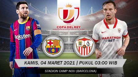 Pertandingan leg kedua semifinal Copa del Rey antara Barcelona vs Sevilla. - INDOSPORT