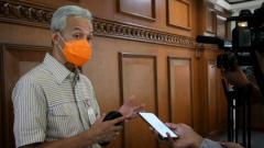 Indosport - Gubernur Jawa Tengah, Ganjar Pranowo saat menyampaikan rencana Jawa Tengah menyiapkan Popda secara virtual.