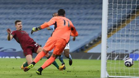 Proses gol Man City ke gawang Wolves - INDOSPORT