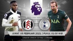 Indosport - Berikut prediksi pertandingan Fulham vs Tottenham Hotspur di ajang Liga Inggris untuk pekan ke-33, Jumat (5/3/2021) pukul 01.00 WIB di Craven Cottage.