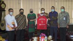 Indosport - Pertemuan antara Perbasi, Kemenkumham, dan Kementerian BUMN.