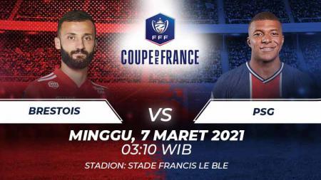 Link Live Streaming Coupe de France: Brestois vs PSG - INDOSPORT