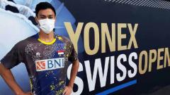Indosport - Shesar Hiren Rhustavito di Swiss Open 2021.