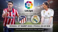 Indosport - Pertandingan Atletico Madrid vs Real Madrid (LaLiga).