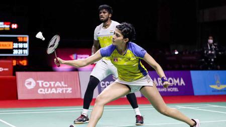 Pasangan ganda campuran India, Satwiksairaj Rankireddy/Ashwini Ponnappa. - INDOSPORT