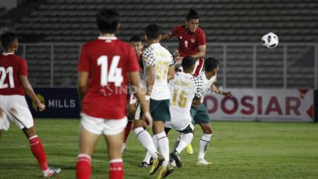 Pertandingan Timnas Indonesia U-23 vs Tira-Persikabo, Jumat (05/03/21). - INDOSPORT