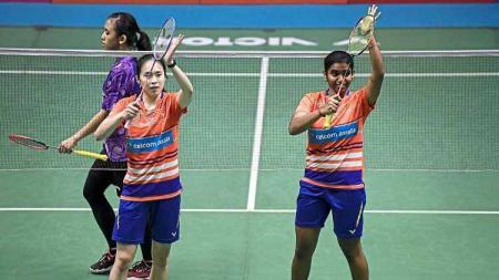 Pasangan Pearly Tan/Thinaah Muralitharan berhasil kalahkan unggulan 2 yakni Gabriela Stoeva/Stefani Stoeva di final Swiss Open 2021, media Malaysia kegirangan. - INDOSPORT
