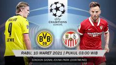 Indosport - Pertandingan Borussia Dortmund vs Sevilla (Liga Champions).