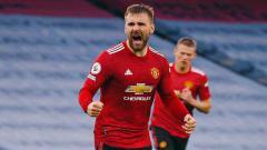 Indosport - Luke Shaw, pemain Manchester united.