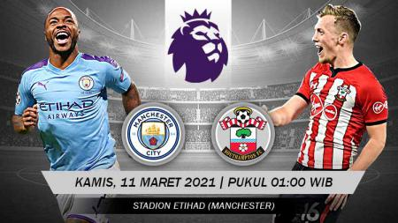 Link Live Streaming Liga Inggris: Manchester City vs Southampton. - INDOSPORT