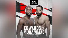 Indosport - Leon Edwards vs Belal Muhammad jadi kartu utama di UFC Vegas 21.