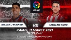 Indosport - Link Live Streaming LaLiga Spanyol: Atletico Madrid vs Athletic Bilbao