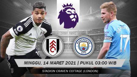 Pertandingan Fulham vs Manchester City (Liga Inggris). - INDOSPORT