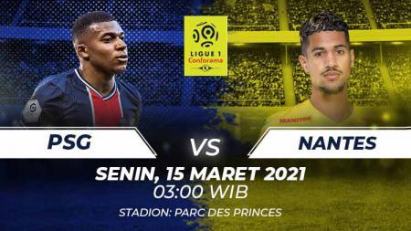 Link live streaming pertandingan Ligue 1 Prancis antara Paris Saint-Germain (PSG) vs Nantes. - INDOSPORT