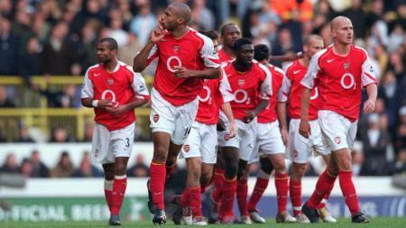 Pertandingan Arsenal vs Tottenham musim 04/05 yang menghasilkan sembilan gol - INDOSPORT