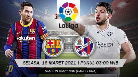 Berikut link live streaming pertandingan LaLiga Spanyol Barcelona vs Huesca. - INDOSPORT