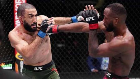 Duel UFC Vegas 21 antara Leon Edwards vs Belal Muhammad. - INDOSPORT