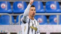 Indosport - Selebrasi Ronaldo setelah mencetak Hattrick