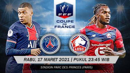 Berikut link live streaming pertandingan babak 16 besar Coupe de France atau Piala Prancis antara Paris Saint-Germain (PSG) vs Lille. - INDOSPORT