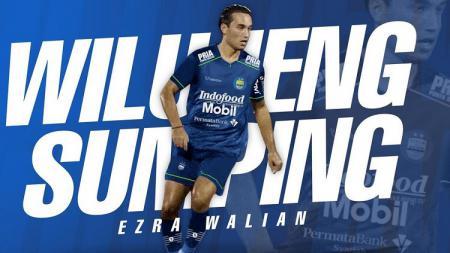 Ezra Walian diperkenalkan sebagai pemain anyar Persib Bandung. - INDOSPORT