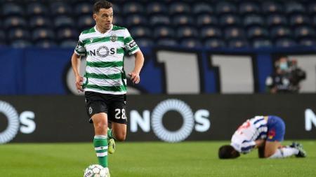 Bintang Sporting Lisbon penerus Bruno Fernandes, Pedro Goncalves, yang jadi buruan Manchester United di bursa transfer musim panas mendatang. - INDOSPORT