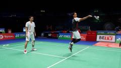 Indosport - Pasangan ganda putra bulutangkis Indonesia, Mohammad Ahsan/Hendra Setiawan.