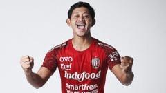 Indosport - Gelandang senior Bali United FC, Rizky Pellu.