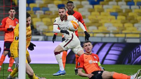 Juru gedor AS Roma, Borja Mayoral, menghuni posisi puncak top skor Liga Europa 2020-2021. - INDOSPORT