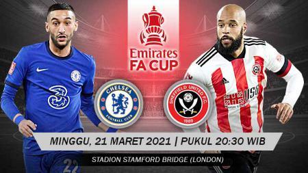 Pertandingan Chelsea vs Sheffield United FC (FA Cup). - INDOSPORT