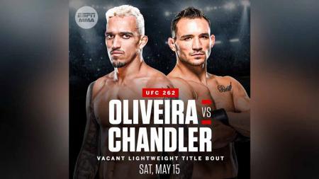Charles Oliveira vs Michael Chandler memperebutkan gelar juara kelas ringan di UFC 262. - INDOSPORT
