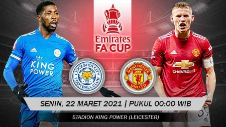 Berikut prediksi pertandingan leg kedua babak perempat final Piala FA 2020-2021 yang menampilkan pertandingan antara Leicester City vs Manchester United. - INDOSPORT