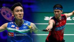 Indosport - Pebulutangkis asal Jepang, Kento Momota ogah kalah lagi, media Malaysia peringatkan pemain bintangnya, Lee Zii Jia.
