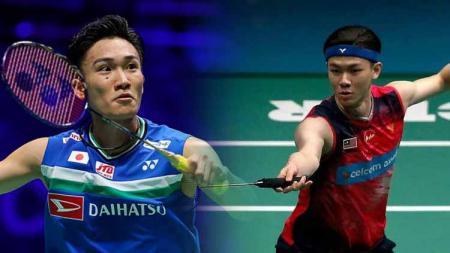 Pebulutangkis asal Jepang, Kento Momota ogah kalah lagi, media Malaysia peringatkan pemain bintangnya, Lee Zii Jia. - INDOSPORT