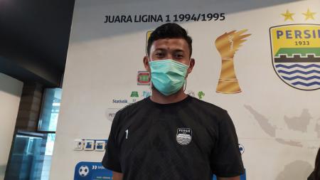 Kiper Persib, Muhammad Natshir ditemui di Graha Persib, Jalan Sulanjana, Kota Bandung, Jumat (19/03/21). - INDOSPORT