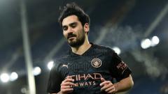 Indosport - Ilkay Gundogan di laga Piala FA Everton vs Manchester City