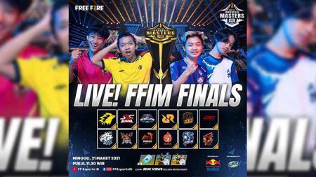 Berikut ini jadwal dan link live streaming pertandingan grand final Free Fire Indonesia Masters (FFIM) 2021 Spring hari ini, Minggu (21/03/21). - INDOSPORT