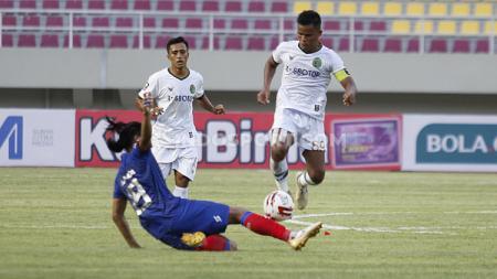 Laga perdana grup A Piala Menpora antara Arema FC vs Persikabo di Stadion Manahan Solo, Minggu (21/03/21). - INDOSPORT
