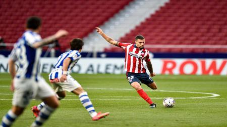 Pertandingan lanjutan pekan ke-28 LaLiga Spanyol antara Atletico Madrid vs Deportivo Alaves. - INDOSPORT