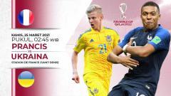 Indosport - Pertandingan Prancis vs Ukraina (Kualifikasi PD Eropa).